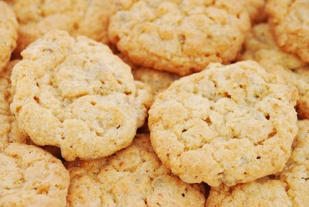 Close-up of the oatmeal cookies photo