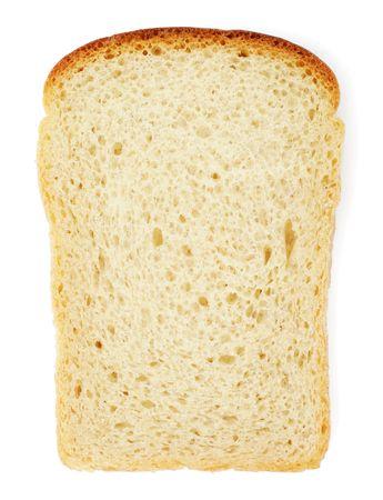 Slice of bread isolated on white background photo