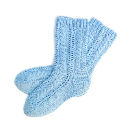 Blue socks  photo
