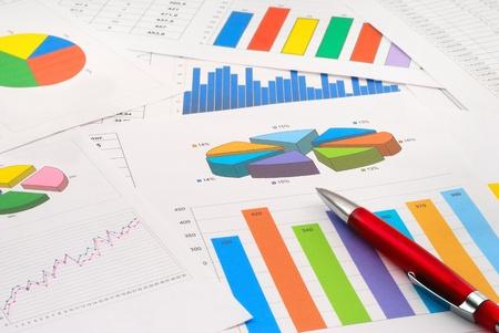 contabilidad: Documentos financieros Foto de archivo