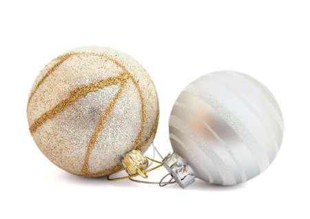 chrom: Christmas ball on white background  Stock Photo