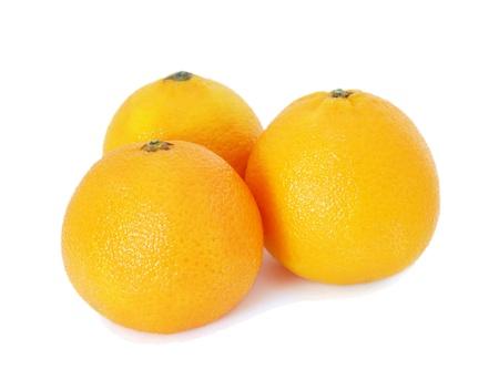 mandarins: Mandarins isolated on white background