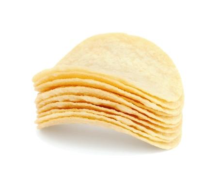 Stack of potato chips photo
