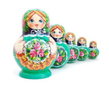 crafted: Russian Nesting Dolls Stock Photo