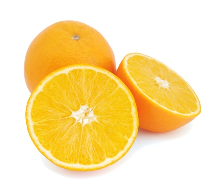 Oranges isolated on white background  photo