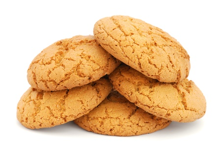 Pile of cookies isolated on white background  photo