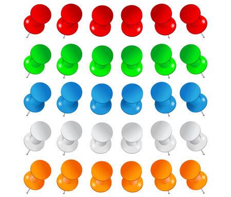 pushpins: Vector Push Pins
