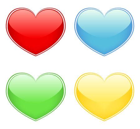 lovingly: Vector Hearts  Illustration