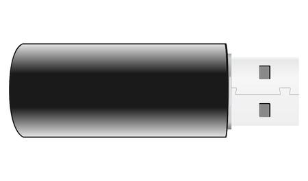 empty pocket: Vector negro USB Flash Drive