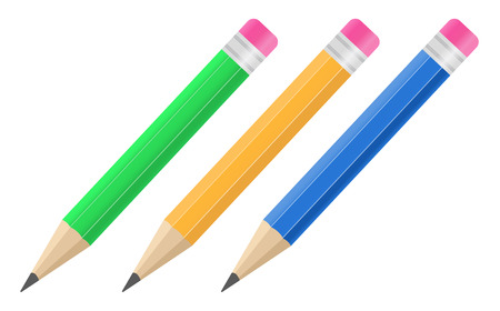 sharpened: Set of Vector Pencils Illustration