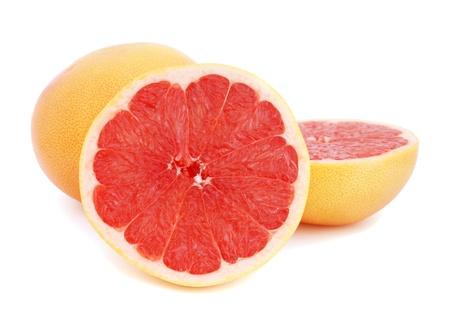 Grapefruits on white background photo