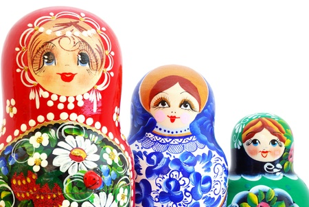 nesting: Russian Nesting Dolls Stock Photo
