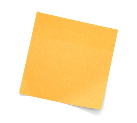 bulletinboard: Blank Orange Post-It Note