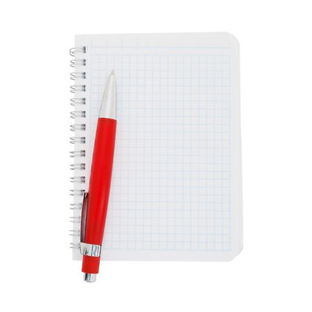 Paper notebook with red photo