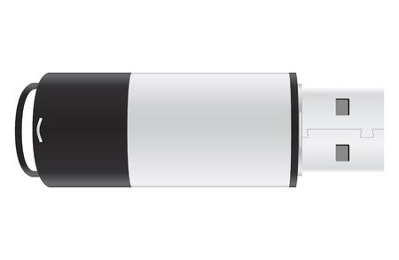 empty pocket: Unidad USB Flash sobre fondo blanco Vectores