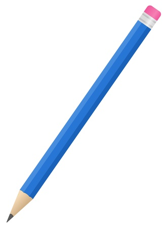 bleistift: Blau bleistift Illustration