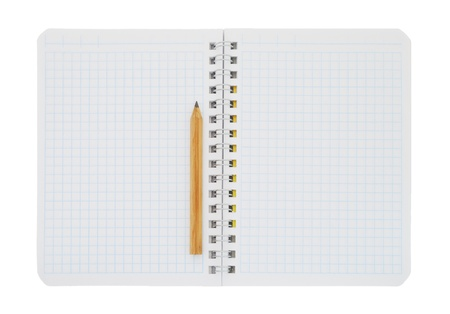 Paper notebook with pencil photo