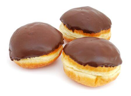 Chocolate doughnuts photo