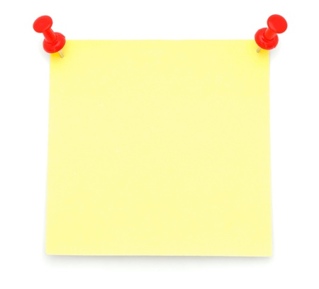 Blank Yellow Post-it Note photo
