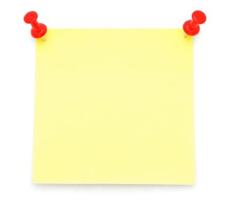 Blank Yellow Post-it Note photo