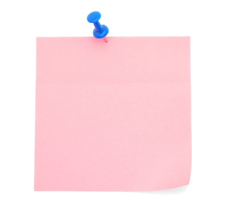 Blank pink sticky note Stock Photo - 9277739