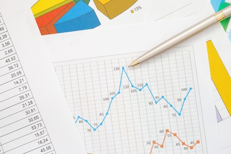 Financial graphs and charts photo