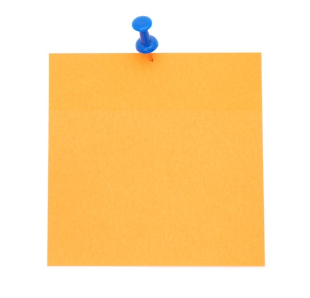 thumbtack: Blank Orange Post-It Note