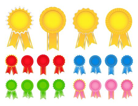 a collection of awards icon: Vector Award Ribbons  Illustration
