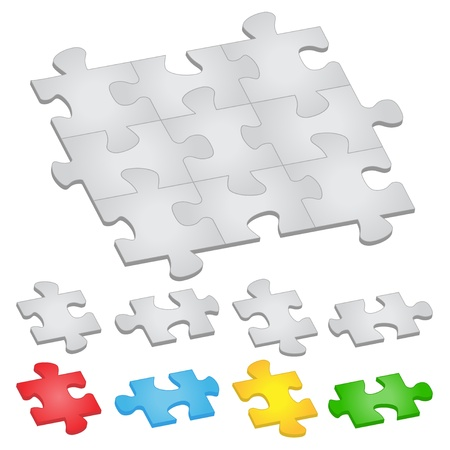 Vector jigsaw puzzle Stock Vector - 9398610