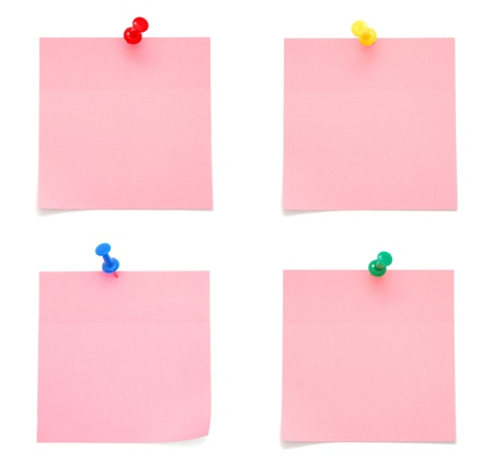 Blank Pink Paper Notes photo