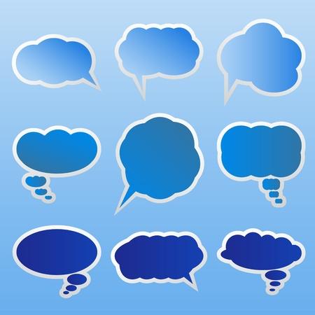 Set of dialog clouds Vector