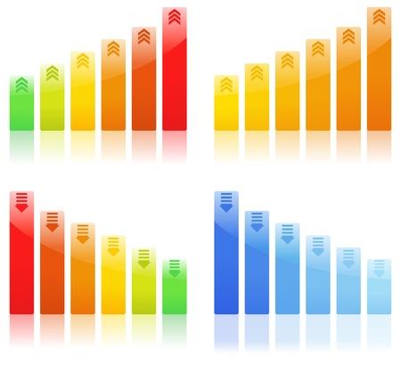Gráficos de barras Foto de archivo - 9639988