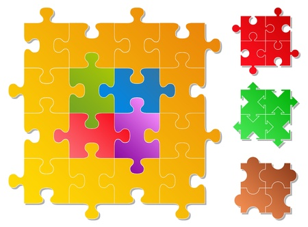 jigsaw puzzle pieces Vector