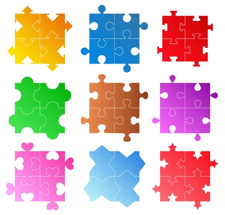 shadow match: jigsaw puzzle patterns