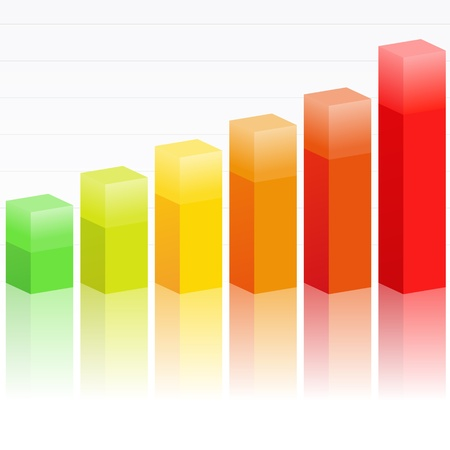 Rising bar graph Vector