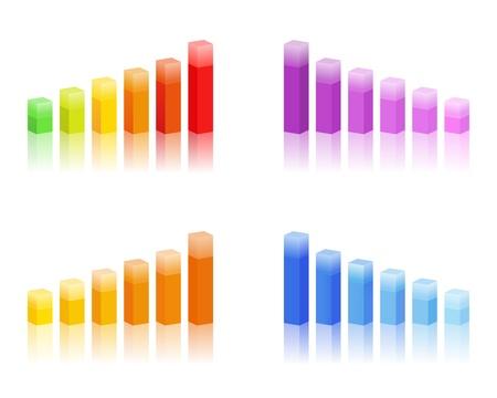 grafica de barras: gráficos de barras Vectores