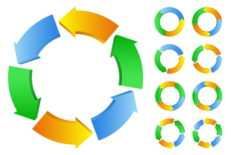 circle arrow: circles with arrows