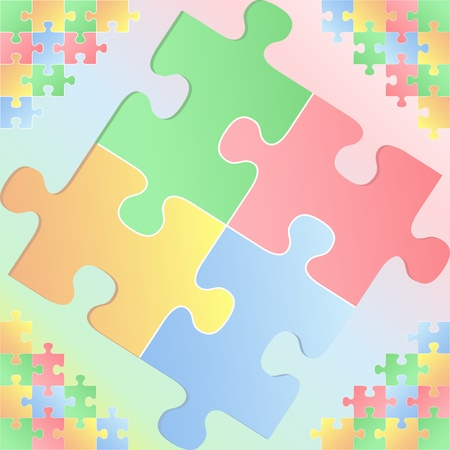 Background with puzzle pieces Vector