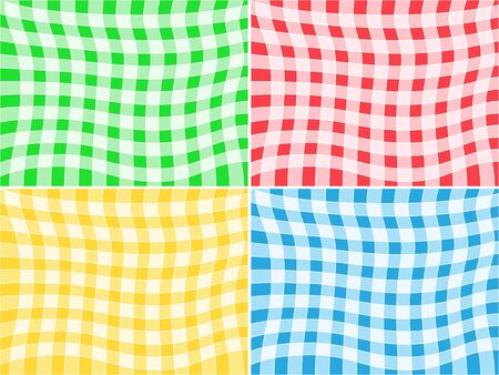 Set of tablecloth patterns Vector