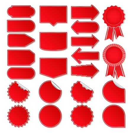 Red Price Tags Vector
