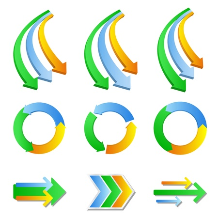 Set of arrows on white background Vector