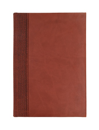 book covers: Brown leather notebook isolated on white background Stock Photo