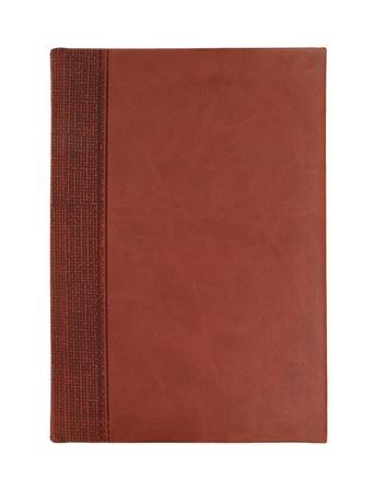 cuir: Ordinateur portable en cuir brun isol� sur fond blanc