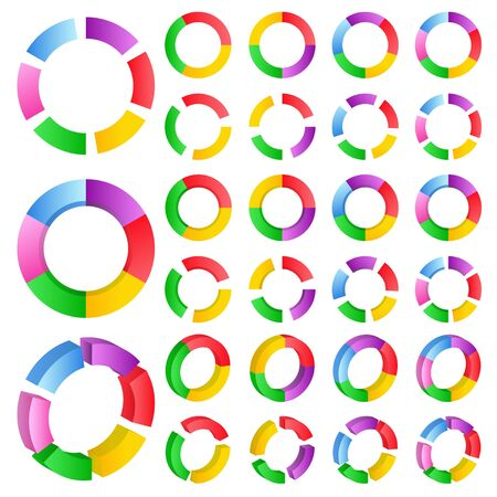 business continuity: Set of abstract circles