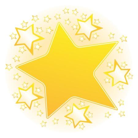 lucero: Naranja Bright Star Vectores
