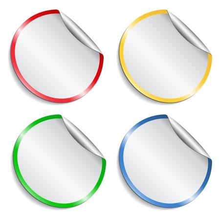 Set of round stickers