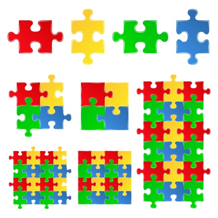 puzzle: jigsaw puzzle pieces Illustration