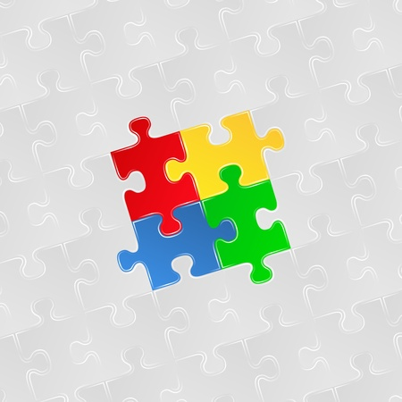 Abstract background with jigsaw puzzle pieces