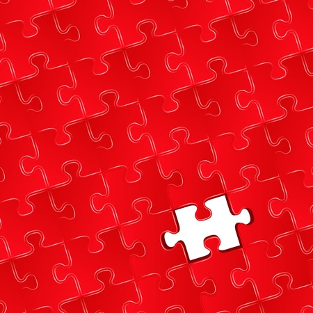 missing puzzle piece: Jigsaw puzzle with one missing piece