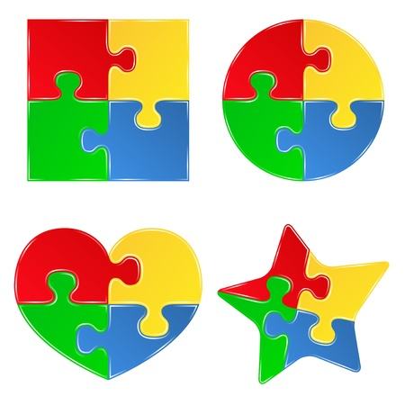 shapes of jigsaw puzzle pieces